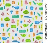 spring seamless pattern with... | Shutterstock . vector #1777899299