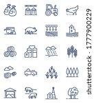 farming line icons set. farmer... | Shutterstock .eps vector #1777900229