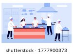professional cooking kitchen... | Shutterstock .eps vector #1777900373