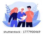 grandmother parents holding... | Shutterstock .eps vector #1777900469