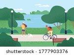 relaxed people enjoying... | Shutterstock .eps vector #1777903376