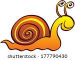 nice land snail with funny eyes ... | Shutterstock .eps vector #177790430