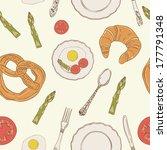 vector seamless breakfast...   Shutterstock .eps vector #177791348