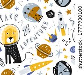 cute pattern with funny... | Shutterstock .eps vector #1777930100