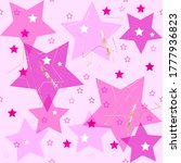 seamless pink geometric pattern.... | Shutterstock .eps vector #1777936823