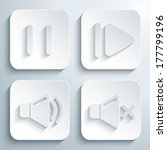 3d media player icons set.... | Shutterstock .eps vector #177799196