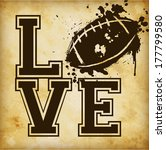 love american football template ... | Shutterstock .eps vector #177799580