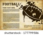 american football template  ... | Shutterstock .eps vector #177799586