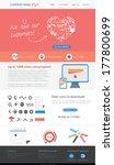 web template | Shutterstock .eps vector #177800699