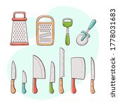 cooking supplies. collection of ...   Shutterstock .eps vector #1778031683