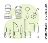 cooking supplies. collection of ...   Shutterstock .eps vector #1778031686