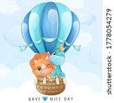 cute little giraffe and...   Shutterstock .eps vector #1778054279