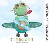 Cute Little Dinosaur Flying...