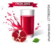 fresh juice background with... | Shutterstock .eps vector #177805934