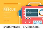 defibrillator concept flyer ... | Shutterstock .eps vector #1778085383