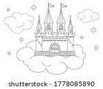 coloring page with castle in... | Shutterstock .eps vector #1778085890