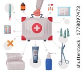 doctors hand holding first aid...   Shutterstock .eps vector #1778097473