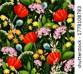 Floral Pattern With Bright...