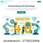 smart industry 4.0 concept.... | Shutterstock .eps vector #1778123906