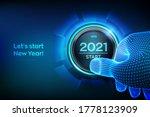 2021 start. finger about to... | Shutterstock .eps vector #1778123909
