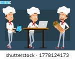 cartoon flat funny little chef...   Shutterstock .eps vector #1778124173