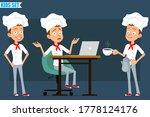 cartoon flat little chef cook...   Shutterstock .eps vector #1778124176