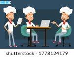 cartoon flat funny little chef...   Shutterstock .eps vector #1778124179