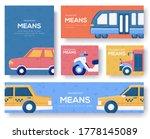 transport means brochure flyer  ... | Shutterstock .eps vector #1778145089