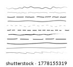 hand drawn doodle line borders... | Shutterstock .eps vector #1778155319