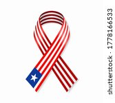 liberian flag stripe ribbon on... | Shutterstock .eps vector #1778166533