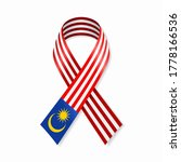 malaysian flag stripe ribbon on ... | Shutterstock .eps vector #1778166536