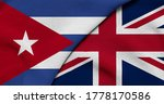 Flag Of Cuba And Great Britain  ...