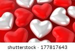 white red hearts | Shutterstock . vector #177817643