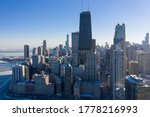 Drone Shot Of City Of Chicago...