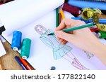 fashion designer close up | Shutterstock . vector #177822140