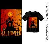 halloween t shirt design...   Shutterstock .eps vector #1778240753