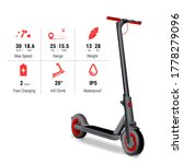 realistic electric scooter with ... | Shutterstock .eps vector #1778279096
