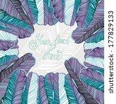 vector feather frame. | Shutterstock .eps vector #177829133