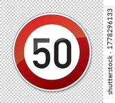 traffic sign speed limit fifty. ... | Shutterstock .eps vector #1778296133