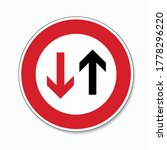 traffic sign no passing. german ... | Shutterstock .eps vector #1778296220