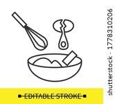 dough mix icon. whisking egg...   Shutterstock .eps vector #1778310206