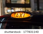 Closeup To A Typical Black Cab...