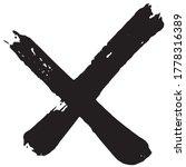 Cross Grunge. Smears Of Black...