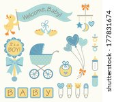vector set of baby boy icons | Shutterstock .eps vector #177831674