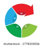 Four Part Numbered Circular...
