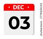 december 03   calendar icon.... | Shutterstock .eps vector #1778334143
