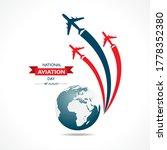 national aviation day....   Shutterstock .eps vector #1778352380