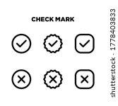 check mark icons set vector...
