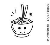 cup of noodle with facial... | Shutterstock .eps vector #1778415803