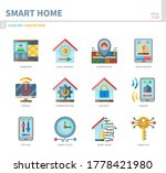 smart home icon set flat style... | Shutterstock .eps vector #1778421980